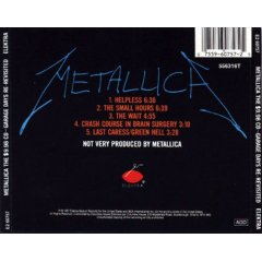 Metallica The 998 CD Garage Days Re Revisited
